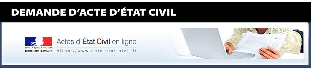 Demande d'acte d'état civil