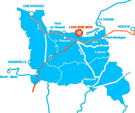 carte de Lion-sur-Mer