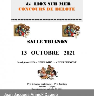 Concours de belote le 13 octobre