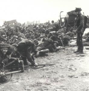 41e Royal Marines Commando débarqué sur Queen White