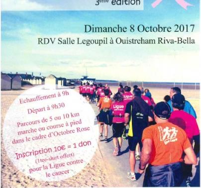 Marche-course Rose de la Côte de Nacre 3éme édition