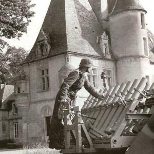 11 mai 1944 – Défense allemande au château de Lion sur Mer devant Rommel