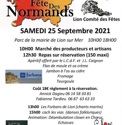 Fête des Normands le 25 septembre