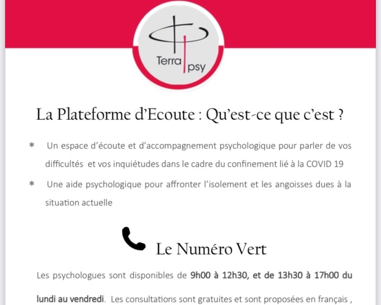 COVID 19 – Plateforme d'écoute Normande